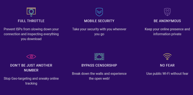 Features of SecureVPN