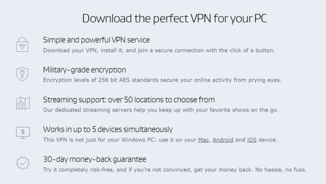 aVG VPN Features