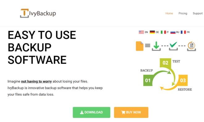 IvyBackup Homepage