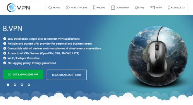 bVPN homepage