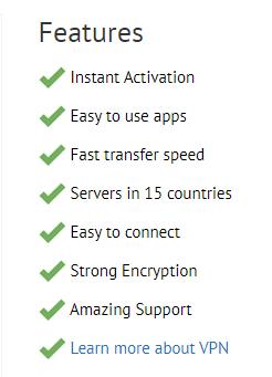 PandaPow VPN Features
