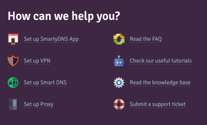 SmartyDNS Customer Support